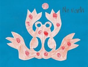 Nevaeh's frog cutout