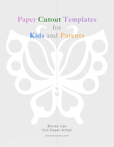 Bovey Lee paper cutout templates for kids and parents cover