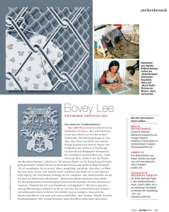 Burda Style Features Bovey Lee