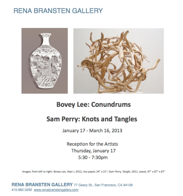 Bovey Lee: Conundrums, solo exhibition, Jan 17-March 16, 2013 at Rena Bransten Gallery, San Francisco