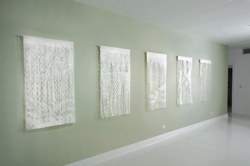 Bovey Lee: Water Has A Memory, gallery shot, Gavlak Gallery, Palm Beach, Florida, USA. Thru May 13.
